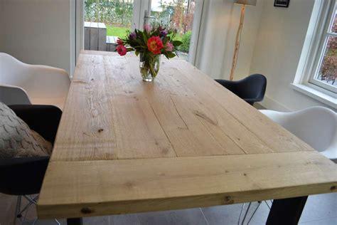 boomstam tafelblad rond eiken tafelbladen eiken boomstamtafel bladen