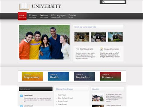wordpress themes free university university wordpress theme wordpress college theme