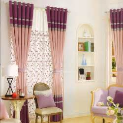 purple and pink linen living room curtains 2016 new arrival