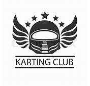 Karting Club Or Kart Races Vector Logo Template Isolated