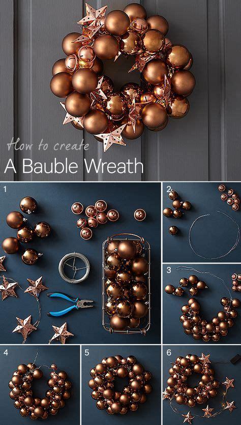 create   bauble wreath  christmas