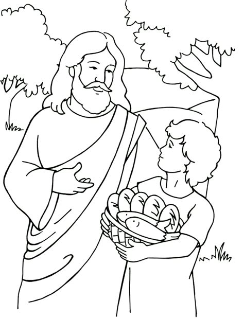 bible coloring pages for middle school alimentaci 243 n de los cinco mil p 225 gia para colorear