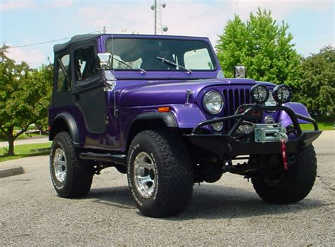 purple jeep cj cascade 4wd four wheel drive projects