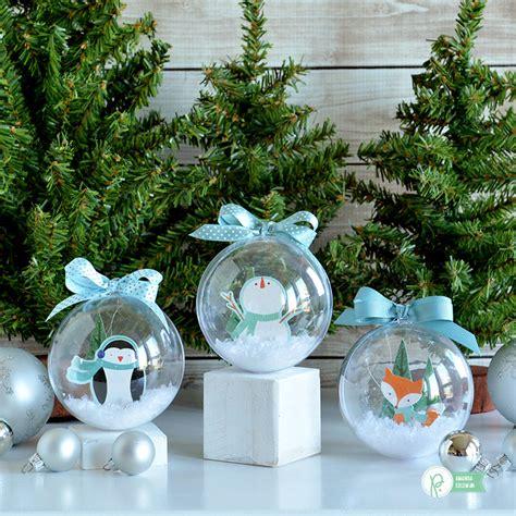 snow globe ornaments pebbles inc