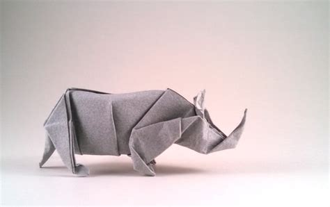 Origami Rhinoceros - animals of the world by fumiaki kawahata book review