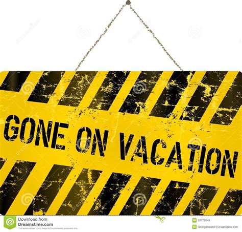 On Vacation On Vacation Sign Stock Vector Image Of Vacation Shop