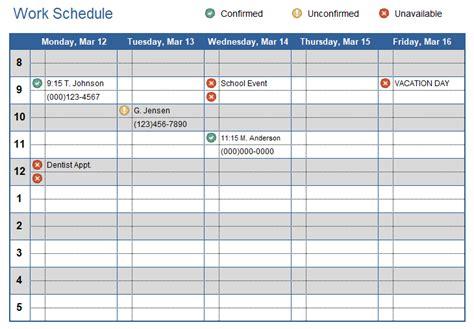 work plan template excel calendar template word