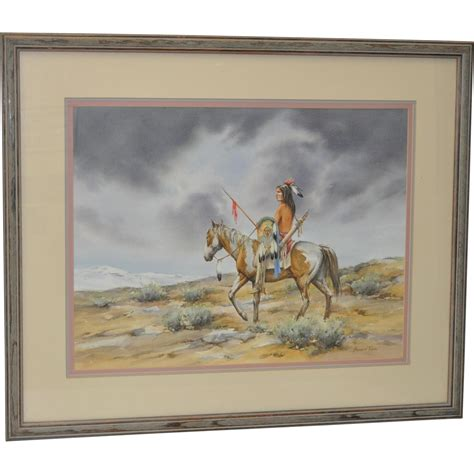 howard rees original watercolor  scout antique