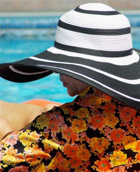 pool cool sun protection with a hat