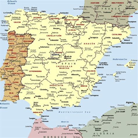 map of spain with cities map of spain with cities imsa kolese