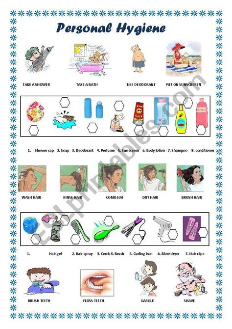 Printable Hygiene Worksheets