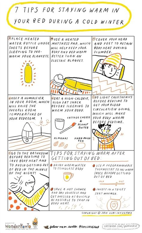 7 Tips On Keeping Warm by 7 Tips For Staying Warm In Your Bed During A Cold Winter