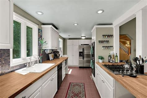 opening up a galley kitchen my open galley kitchen home decor