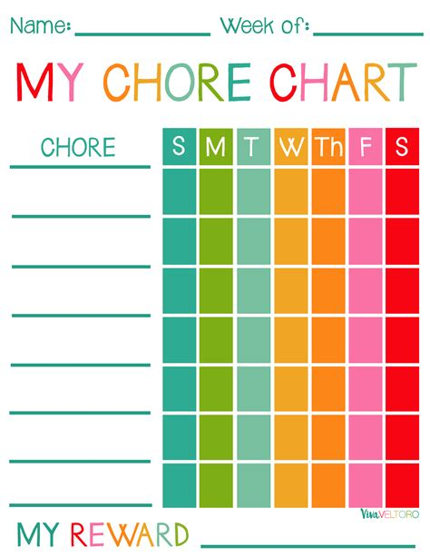 printable reward charts for 10 year olds free printable chore charts for kids viva veltoro