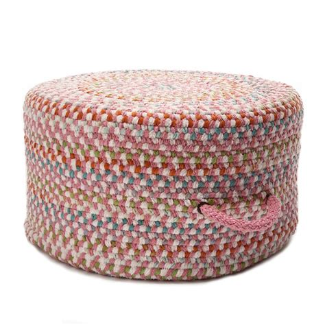 braided pouf ottoman colonial mills color frenzy pouf braided pouf ottoman