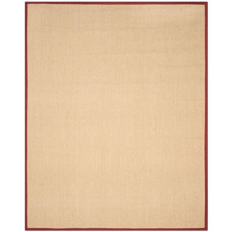 Burgundy Area Rugs 8 X 10 Safavieh Fiber Maize Burgundy 8 Ft X 10 Ft Area Rug Nf141d 8 The Home Depot