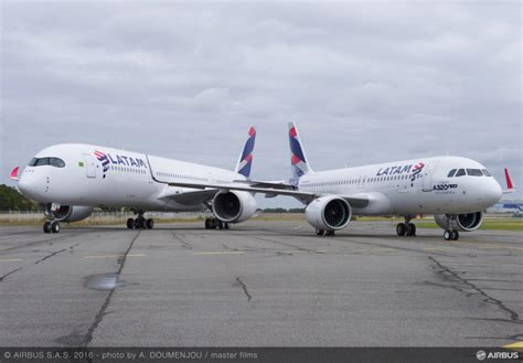 tam airlines reveals their first a350 xwb aviatoraero latam reveals first a320 neo a350 in new colours