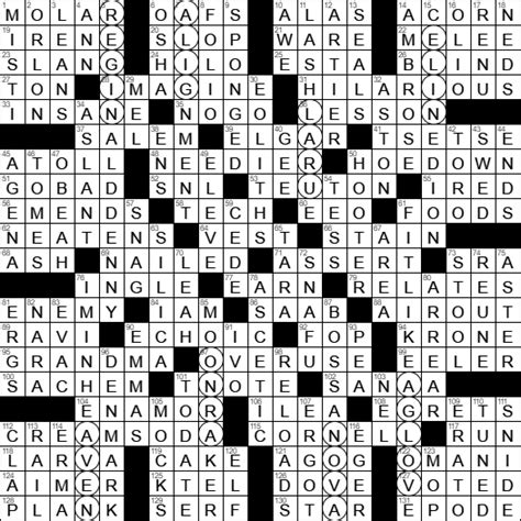aborted operation crossword la times crossword answers sunday july 2nd 2017