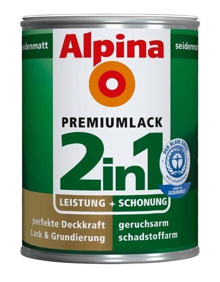 Lack Grundierung Trockenzeit by Alpina 2in1 Buntlack 375ml 750ml Lack Grundierung