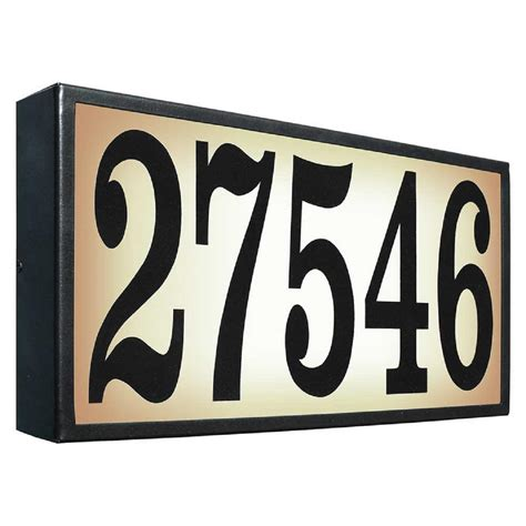 light up address plaque qualarc edgewood classic rectangular plastic lighted