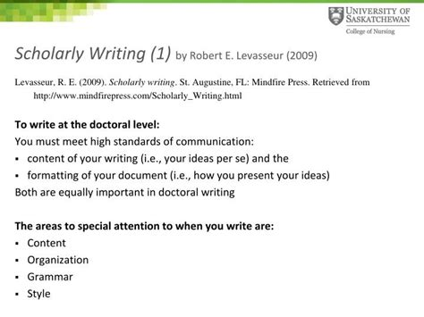 writing a scholarly paper writing scholarly literature review