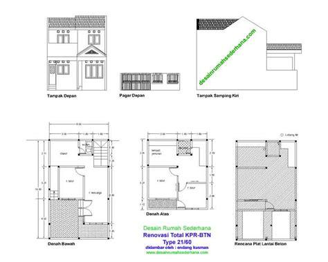 gambar rumah sederhana kpr btn type 21 60 desain rumah sederhana