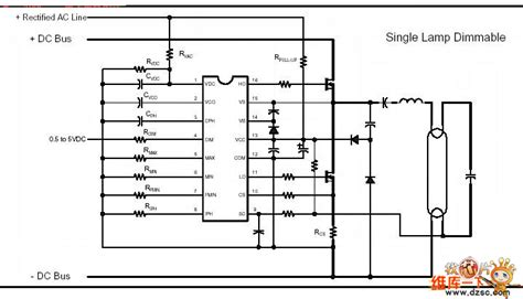integrated light circuit the ir2159 integrated electric ballast circuit of adjustable light led and light circuit