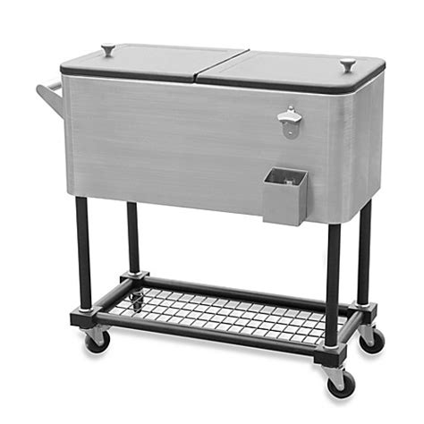 stainless steel beverage cooler cart stainless steel 80 quart beverage cooler cart bed bath