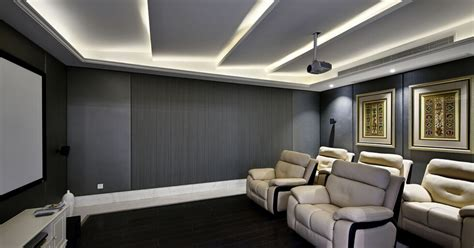 Home Cinema Interior Design by Modern Minimalist Style Home Theater Renovation