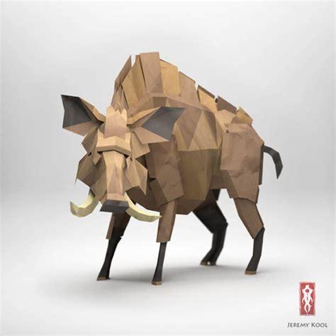 Origami Paper Animals - digital meets analog inspiring dreamy digital origami