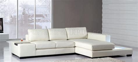 mini sectional sofa   white leather