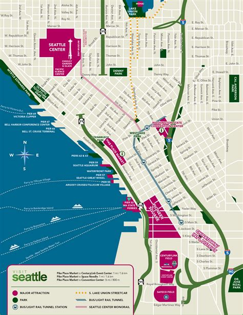 printable seattle area map custom seattle map visit seattle