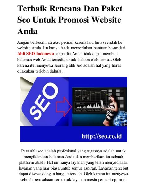 Paket Website 1 http seo co id terbaik rencana dan paket seo untuk promosi websit
