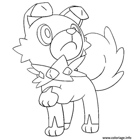 moon rock coloring page coloriage rocabot pokemon soleil lune dessin