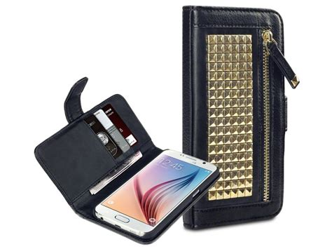 covert roxie studded wallet case samsung galaxy  hoesje