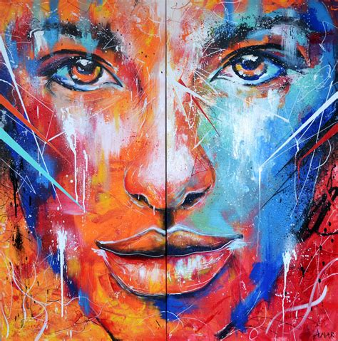 acrylic paint artist and abstract portrait painting on behance
