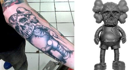 kaws tattoo tattoos inspired by kaws companion by pushead