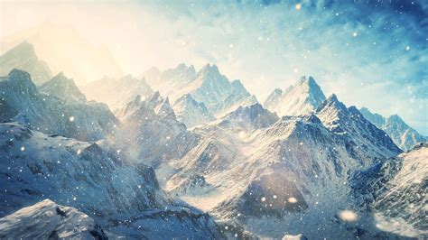 computer wallpaper mountains snowy mountains wallpapers wallpaper cave
