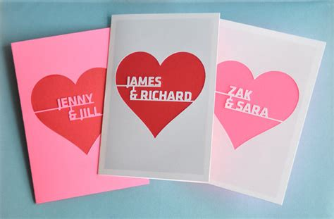 personalized valentines day cards personalized valentines cards on etsy with
