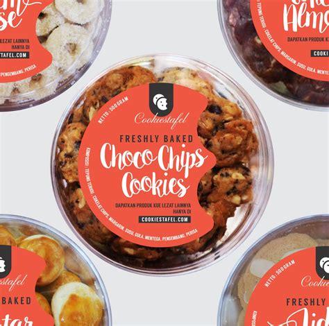 contoh design label kue sribu label design desain label untuk toples kue kering