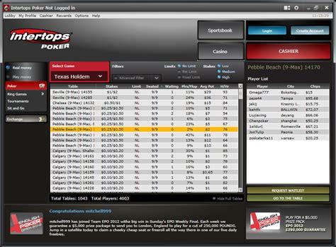 intertops poker review  rakeback  bonus