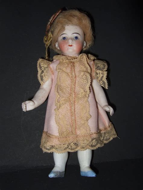 bisque doll with glass all bisque glass eye doll from shirleydoll on ruby