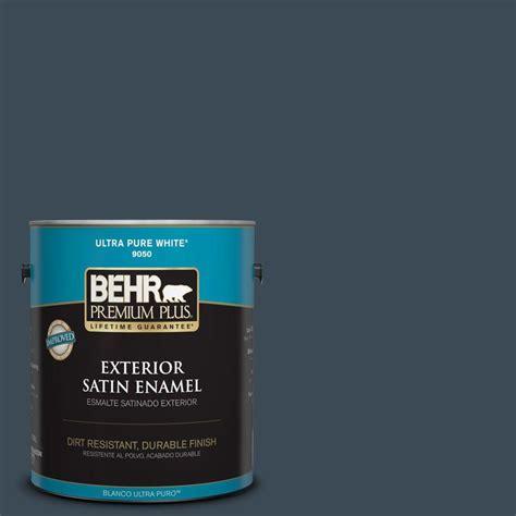 navy blue paint colors paint the home depot behr premium plus 1 gal bxc 26 new navy blue satin