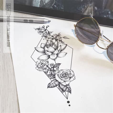 rose tumblr tattoos on