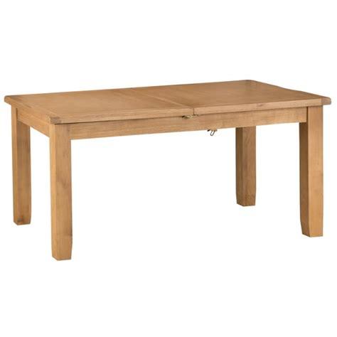 rustic original waxed oak dining table medium extending
