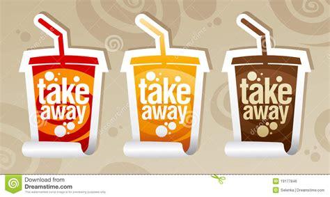 Take Away Drinks Stickers. Royalty Free Stock Image   Image: 19177846