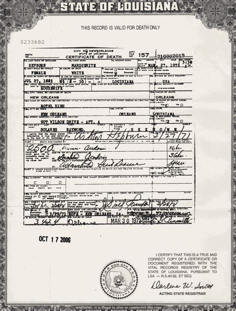 Louisiana Birth Records Index Marguerite Solares At Hepburn O Neill Family History