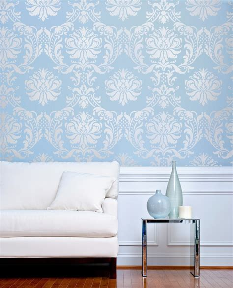 Interior Paint Stencils by Damask Stencil Gabrielle Diy Reusable Stencils For Wall