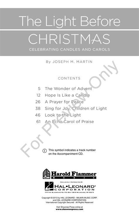 the light before christmas unison two part j w pepper