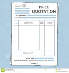 quotation form stock vector image of money form invoice
